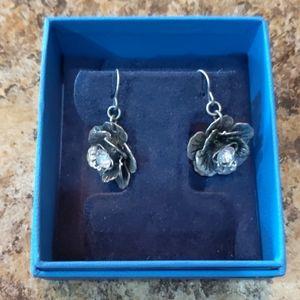 Premier Crystal Flower Earrings